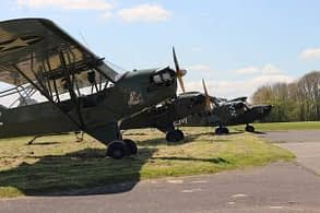 L - Birds today, in Normandy - gathering Piper L - 4 and L-5 Stinson