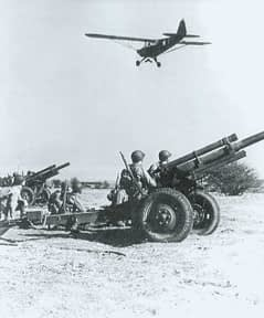 Piper L-4 artillery