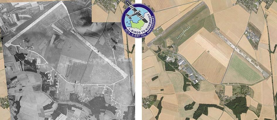L'aérodrome de St Andé de l'Eure, en 1944 et 2019